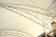 Roof supported by beam in grandstand, BIC Stock Image