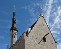 Roof of Tallinn`s Town Hall Royalty Free Stock Images