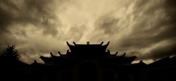 Roof of the temple Royalty Free Stock Photo