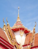Roof of the temple. Royalty Free Stock Image