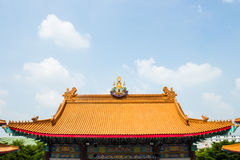 Roof of the temple. A roof of the temple Chinese style Royalty Free Stock Photo