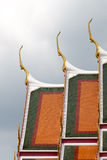 The roof of the temple. The roof of the temple in Bangkok, Thailand Royalty Free Stock Photos