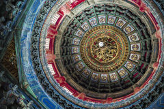 Ceiling of a temple in Beijing, China stock photography