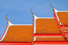 The roof of temple Royalty Free Stock Image