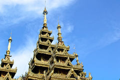 Roof temple and blue sky Royalty Free Stock Image