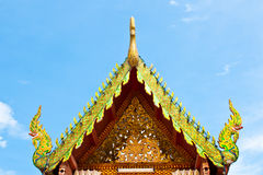 Roof temple buddha in thailand Stock Photography