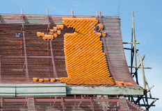 Roof Temple Construction Royalty Free Stock Photo