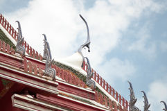 Roof of temple Royalty Free Stock Image