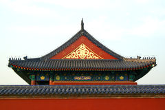 Roof in the Temple of Heaven in Beijing. China stock photography