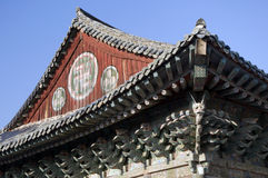 Roof of a Temple,South Korea Royalty Free Stock Photo