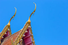 Roof temple Temple. Roof and clear sky Royalty Free Stock Photos