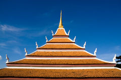 Roof Temple of Thailand Royalty Free Stock Photography