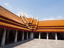 Roof temple Thailand. Roof temple in Wat Benchamabophit, thailand royalty free stock photo