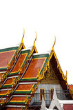 Roof temple in Thailand Royalty Free Stock Images