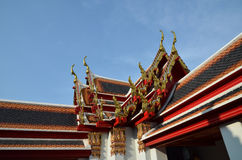 Roof of temple Wat Pho Stock Photos