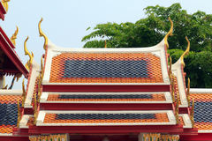 Roof of the temple Royalty Free Stock Photos