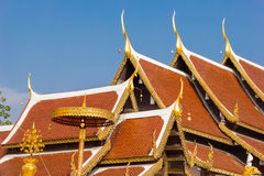 Roof temple at Wat Phra That Sri Chom Thong. Thailand Stock Image