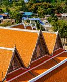 Roof of temple. At Wat Tiger cave temple, Kanchanaburi, Thailand Royalty Free Stock Photos