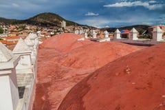 Roof of Templo Nuestra Senora de la Merced church. In Sucre, capital of Bolivia stock photography