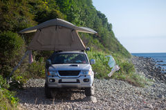 Roof tent Royalty Free Stock Photography