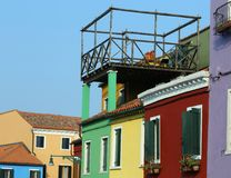 Roof terrace also called altana in italian language above the ro Royalty Free Stock Images