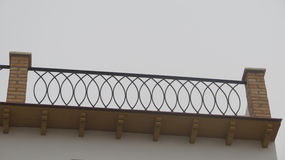 Roof terrace railing Stock Images