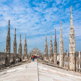 Roof terraces of Milan Cathedral, Lombardia, Italy Royalty Free Stock Photo
