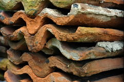 roof terracotta tiles Стоковые Изображения