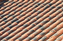 Roof terracotta tiles pattern Royalty Free Stock Photo