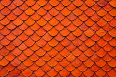 Roof texture. Orange brown clay roof texture in normal shot Royalty Free Stock Photography