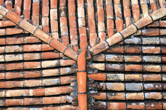Roof texture. Roof detail royalty free stock photo