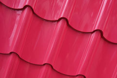 roof texture painted in pink color Royalty Free Stock Photos