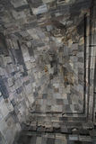Roof textures in Prambanan temple Stock Images