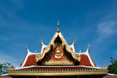Roof of thai architecture,in Thailand. The Architecture of Thailand is a major part of the country's rich cultural legacy and reflects both the challenges of Royalty Free Stock Images