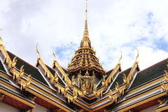 The roof Thai architecture in Wat Phra Kaew Stock Photo