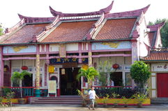 Chinese temple in town of Trang royalty free stock photography