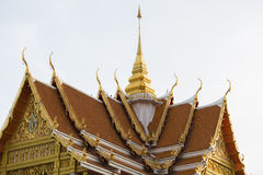 Roof of Thai Buddhist Temple Royalty Free Stock Image