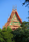 Roof of the Thai Monastery Royalty Free Stock Images
