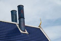 Roof of Thai style crematory. Royalty Free Stock Image