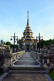 Roof Thai Style at public park in Nonthaburi Thailand. This public park is located beyond Wat Chaloem Phra Kiat. It covers an area of 40 acres. The park was Royalty Free Stock Image