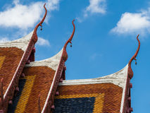 Roof of  Thai temple Stock Photos