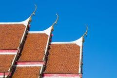 Roof thai temple Stock Photo