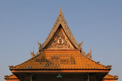 Roof thai temple Stock Photos