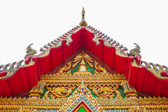 Roof of Thailand art. Art roof of Thai temple  is WAT SOI THONG in Thailand Royalty Free Stock Image
