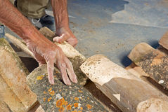 Roof thatcher Royalty Free Stock Photography