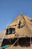 Roof thatching 3 Royalty Free Stock Image