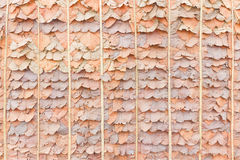 Roof thatching ( or fence )  using forest leaves Royalty Free Stock Photo