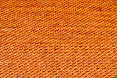 Roof tile. Clay roof tile design. Thai architecture Stock Image