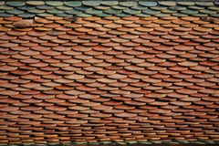 Roof tile. S old temple at Chainat Stock Images