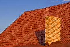 Roof from a tile. Roof from a red tile Stock Photography
